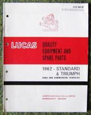 LUCAS - STANDARD/ TRIUMPH CARS SPARE PARTS LIST 1962 REF- CCE902/62