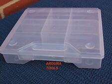 STORAGE CASES PLASTIC WITH DIVIDERS - NEW.