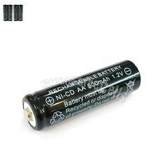 4 Pcs AA 2A 900mAh 1.2V Ni-Cd Ni-Cad Solar Light Rechargeable battery Black