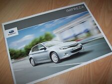 Catalogue / Brochure SUBARU Impreza 1.5R / 2.0D & 2.0R 2011 //