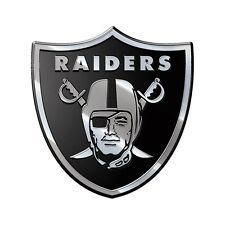 Oakland Raiders Heavy-Duty Metal Auto Emblem [NEW] NFL Chrome Car Decal CDG