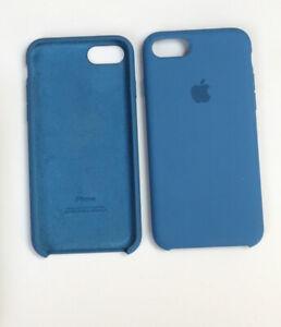 Genuine APPLE iPhone 7 / iPhone 8 /iPhone SE 2020 Silicone Case DENIM BLUE
