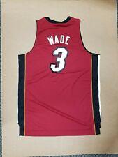 Dwayne Wade Miami Heat Adidas NBA Official Authentic Swingman Jersey Men's sz XL