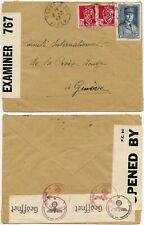 More details for ww2 algeria hussein dey gb+ 3rd reich censored 1943 red cross geneva .ex drucker
