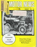 1900 PANHARD FOUR CRLINDER - AMN Antique MOTOR NEWS Magazine, February 1975 Is