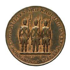 Middlesex Spence's halfpenny token 1795  End of Oppression / Armed Men  D&H 821