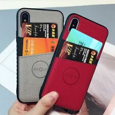 Mobile Cover For iPhone X XS Max XR 8 7 6 6S Plus Case Credit Card Slot Wallet