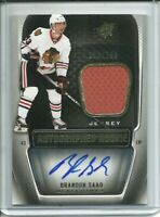 2011-12 SPx Autographed Rookie Jersey Brandon Saad 250/799 - Chicago Blackhawks