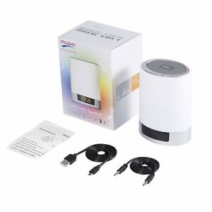 4 In 1 Wireless Bluetooth Speaker Touch Sensor Lamp Light Alarm Clock TF SD Card