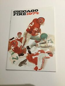 1974 Chicago Fire Media Guide Mint Condition WFL