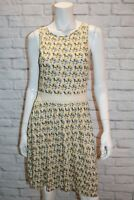 You Need Brand Beige Floral Print Lace Insert Shift Dress Size 10 BNWT #ST68