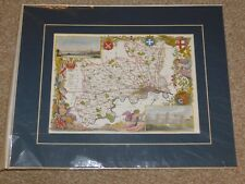 REPRODUCTION OF AN ANTIQUE MIDDLESEX MAP, CARD MOUNTED
