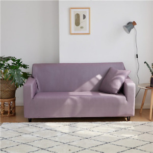 Solid Color Sofa Covers For Elastic Corner Couch Cover Slipcover Chair Protector