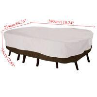 Waterproof Table Cover Outdoor Patio Garden Rectangular Protection 110'' L