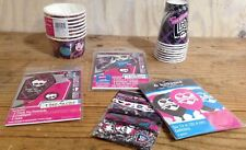Monster High Birthday Supplies Lot Invitations Balloons Confetti Thank You Cards