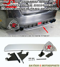 ST-Style Rear Diffuser (ABS) - Gloss Silver Fits 15-19 Subaru WRX STi 4dr