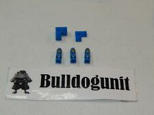 2009 Minotaurus Lego Board Game All 3 Blue Microfigures & Base Color Areas Only