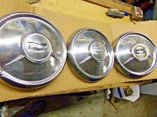 1953,1954 Chevrolet hubcaps, qty 3