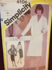 Simplicity Sewing Pattern 6106 Ladies / Misses Skirt Blouse Jacket Size 12 Cut