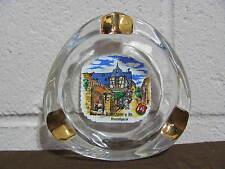 Ashtray Souvenir Glass Rudesheim a. Rh. Drasselgasse With Gold Accents - Mint