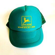 John Deere Logo Trucker Mesh Snap Back Adjustable Capital Caps Hat