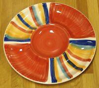 "Tabletops Unlimited Rainbow Chip & Dip Serving Platter Vegetable Relish Dish 12"""