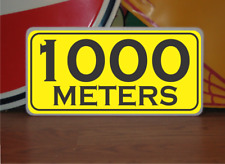 1000 Meters Marker Metal Sign 4 Golf Club Yardage or Course Gun Shooting Range