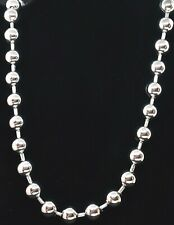 """Designer Milor China Stainless Steel Big 10MM Wide Ball 20"""" Long Chain Necklace"""