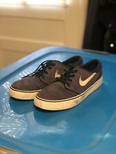 Stefan Janoski Wood Grain Purple/Blue Nike SB Men's Size 9 Skate Shoes Cork