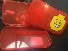 Lego Red Minifigure Storage Bin / Pencil Box
