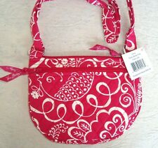 VERA BRADLEY PURSE - LIZZY -  TWIRLY BIRDS PINK - MINI HIPSTER - NEW WITH TAG