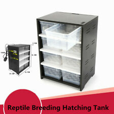 Black Reptile Tank Insect Spiders Lizard Breeding Box Cage Pet Terrarium House