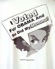 vtg RARE 2008 Bootleg Rap Tee The Boondocks Barack Obama T-Shirt Huey Freeman 4X