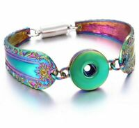 Magnetic Snap Buttons Bracelet Metal Silver for Women Bangle Fashion Jewelry