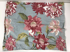 Pottery Barn Bed + Bath Standard Pillow Sham Floral Blue Pink Flowers