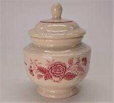 Antique Walker China Made Expressly for Lee Plaza Hotel Detroit Sugar Bowl & Lid