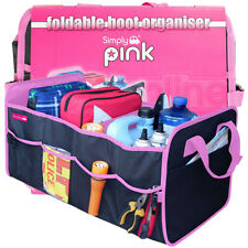 Car Pink Interior Large Foldable Tidy Organiser Tools Travel Storage Boot Bag