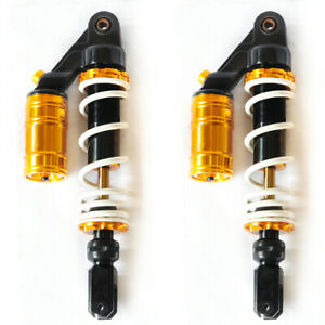 woo 320mm Adjustable Air Shock Absorbers Replacement Suspension For Motorcycle