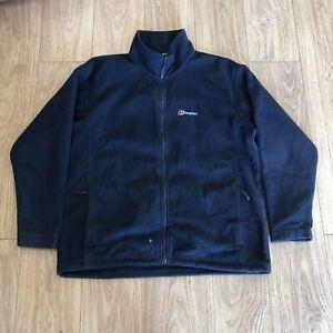 Mens Zip Up Fleece Jacket XXL 2 Extra Large Berghaus Blue B6058