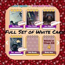 Coin Master Film Noir Set, (X4 Whites) Det Johnson,Viva,Giggles Etc..(Fast Send)