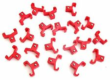 """20 GOLIATH INDUSTRIAL ABS 3/8"""" RED REPLACEMENT SOCKET RACK RAIL CLIPS SC38R"""