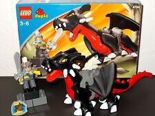LEGO DUPLO~GROSSER~SCHWARZER DRACHE~DRAGON~RITTER~KNIGHT~RITTERBURG~4784