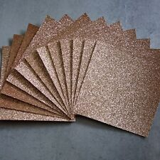 FANTASY GLITTER CARD CHRISTMAS ROSE GOLD 210 GSM 6x6 12 SHEETS - NEW