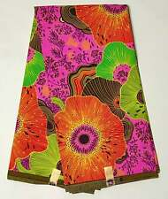 African Fabric/ Ankara - Pink, Red, Yellow 'Floral Fiyah,' YARD or WHOLESALE