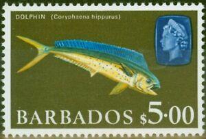 Barbados 1969 $5 Dolphin Fish SG355a V.F MNH