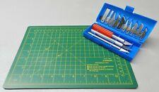 Hobby Knife 16pc Knife Blades & Cutting Mat Set Craft Supplies Kit Self Healing
