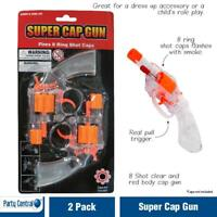 Super Cap Gun Shot Ring Caps Toy Mens Fancy Dress Up Costume Accessories Gangsta