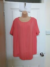 SLIMMA BNWT size 22 Pink Short Sleeved Tunic Top