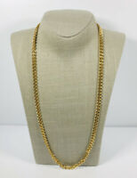 Gold Tone Vintage Necklace Chunky Curb Chain Pretty Retro Costume Jewellery