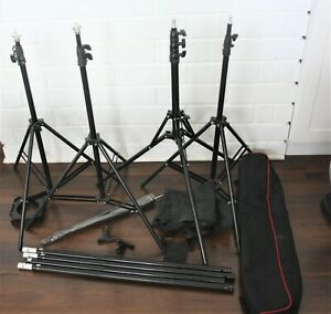 Lot of 4 Light Stand Bundle Combo Kit